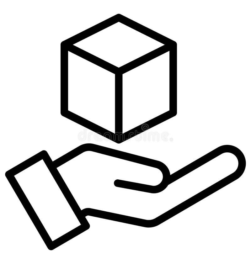 los gr?ficos de ordenador 3d aislaron el icono del vector que puede modificar o corregir f?cilmente el icono aislado del vector d libre illustration