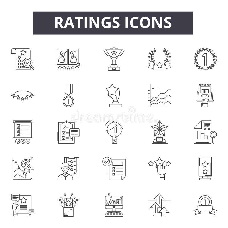 Los grados alinean los iconos, muestras, sistema del vector, concepto del ejemplo del esquema ilustración del vector