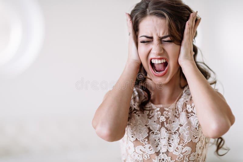 Los gritos de la novia fotos de archivo libres de regalías