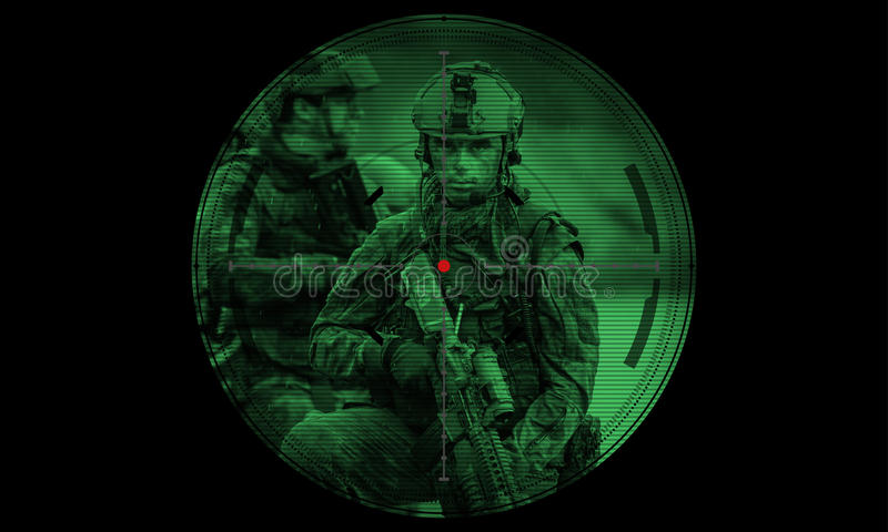 Los guardabosques combinan durante la misión de la noche/el rescate del rehén de la operación Ver imagenes de archivo