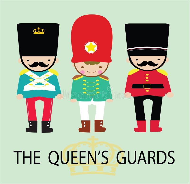 Los guardias de las reinas stock de ilustración