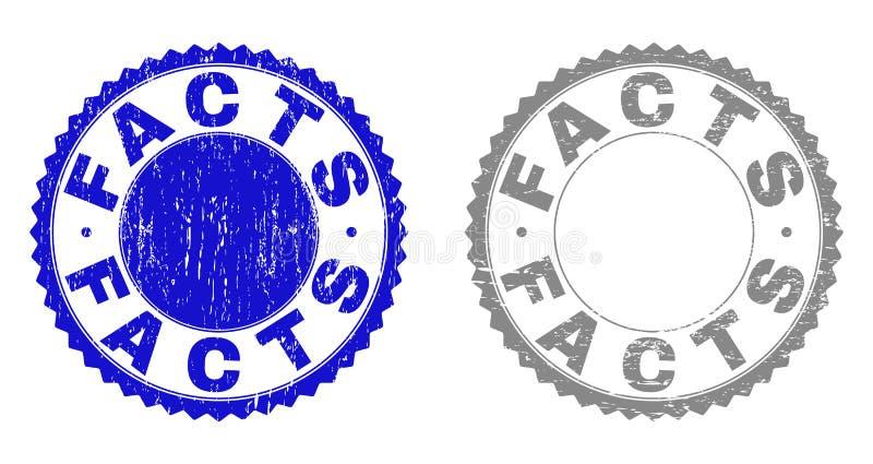 Los HECHOS del Grunge texturizaron los sellos del sello libre illustration