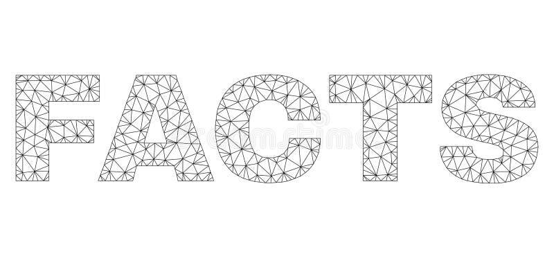 Los HECHOS poligonales del marco del alambre mandan un SMS a la etiqueta libre illustration
