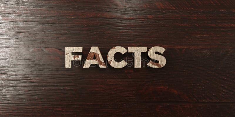 Los hechos - título de madera sucio en arce - 3D rindieron imagen común libre de los derechos stock de ilustración