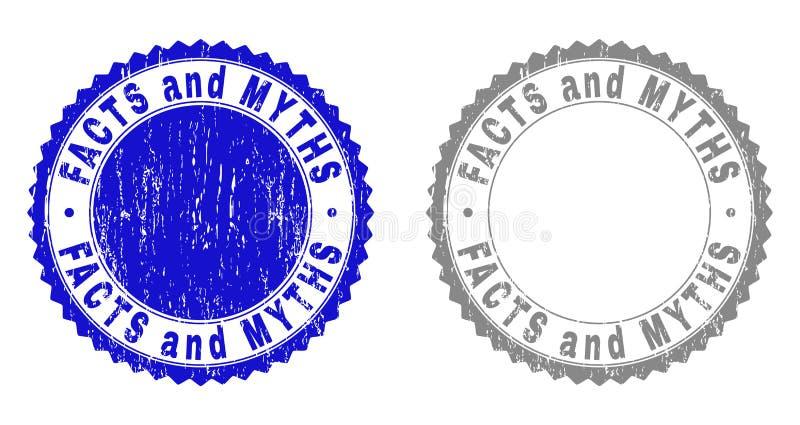 Los HECHOS Y los MITOS del Grunge texturizaron los sellos del sello libre illustration