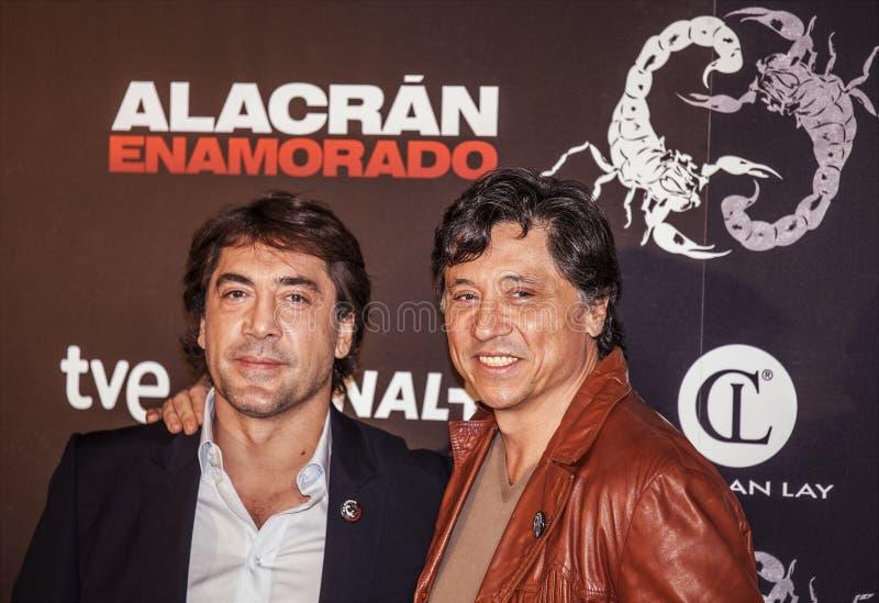 Los hermanos Javier y Carlos Bardem royalty-vrije stock foto's
