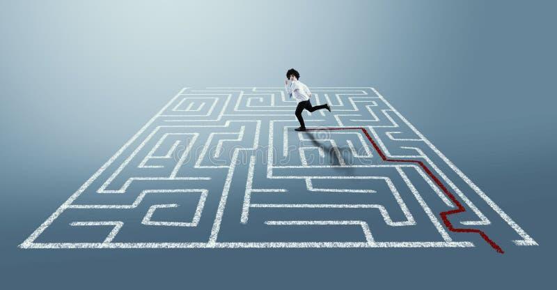 Los het labyrint op royalty-vrije stock foto