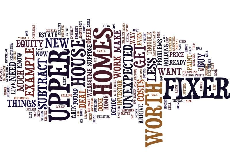 Los hogares de la casa que necesita reparaciones son usted alistan concepto de la nube de la palabra del fondo del texto libre illustration