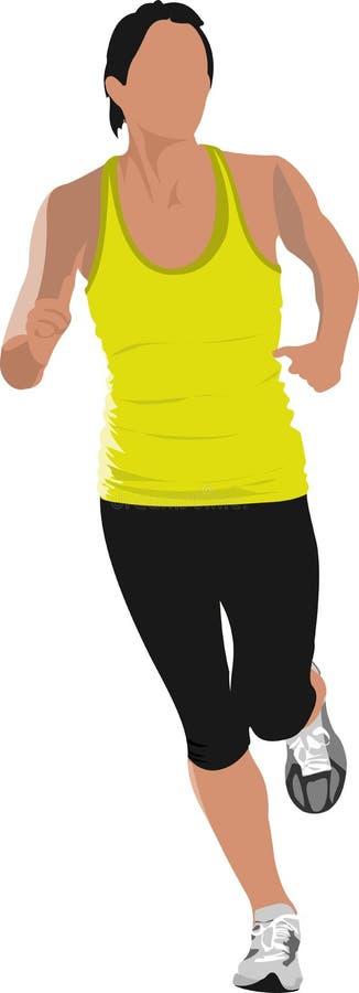 Los hombres corrientes jogging V stock de ilustración