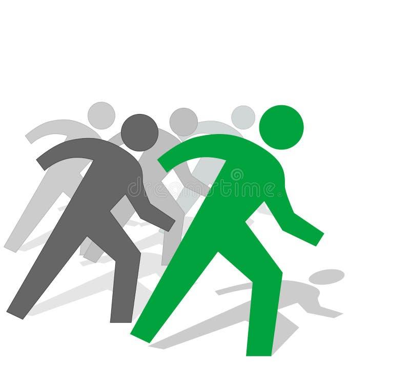 Los hombres de negocios del trabajo compiten libre illustration