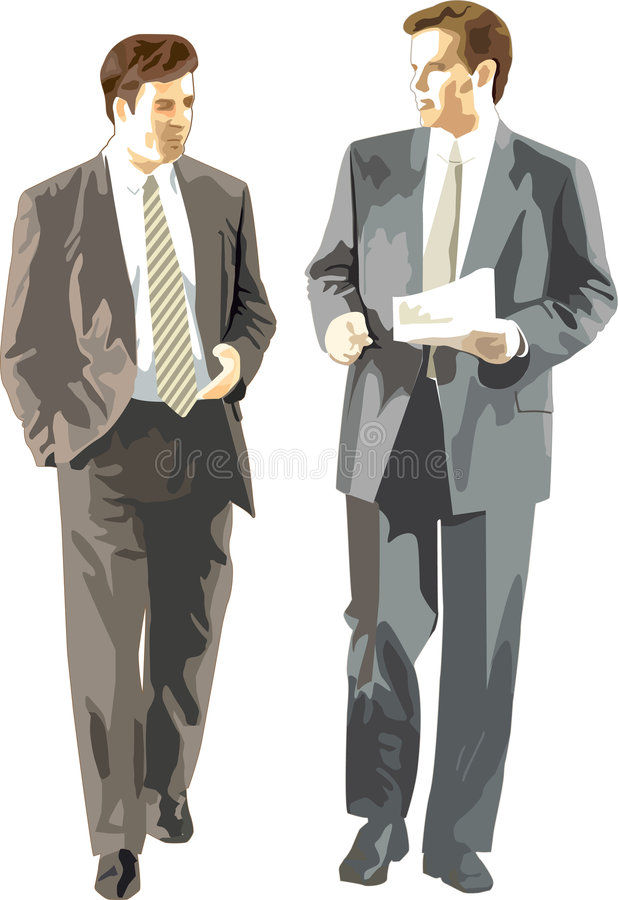 Los hombres de negocios discuten fotografía de archivo