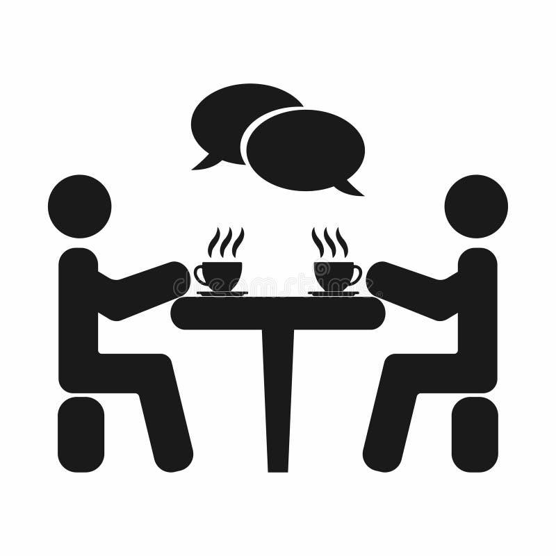 Los hombres de negocios o los amigos se están sentando en café Descanso para tomar café Taza de café Bebida del olor Ilustración  ilustración del vector