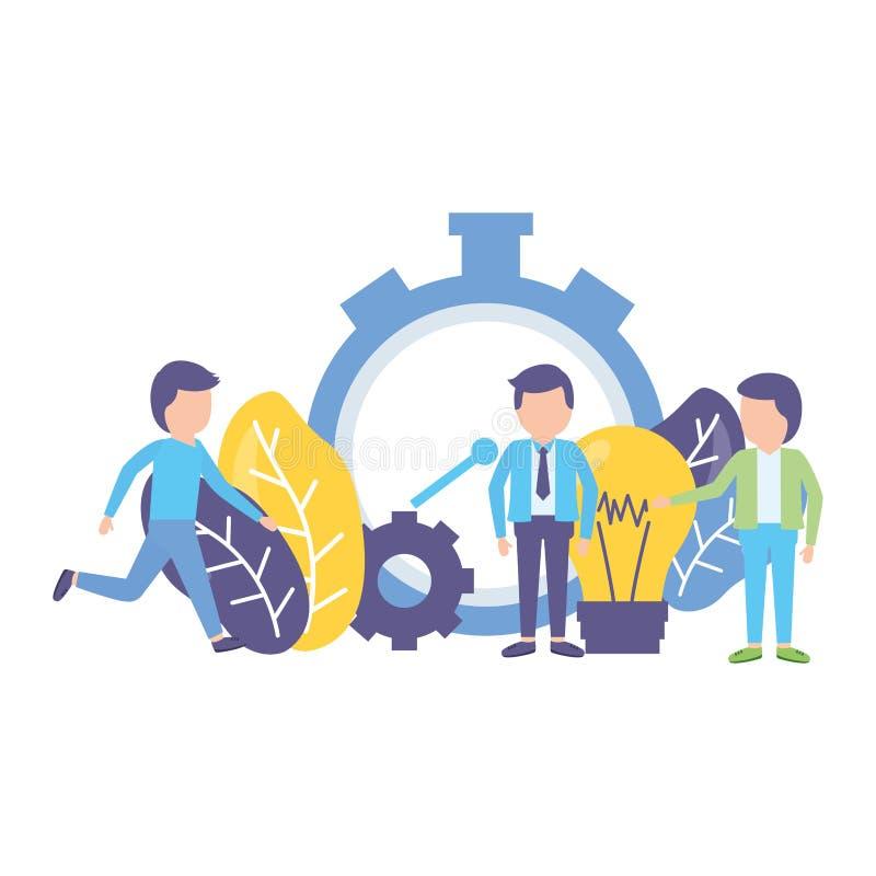 Los hombres de negocios registran ilustración del vector