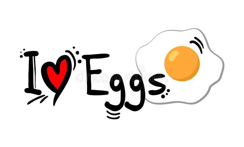 Los huevos aman el mensaje libre illustration