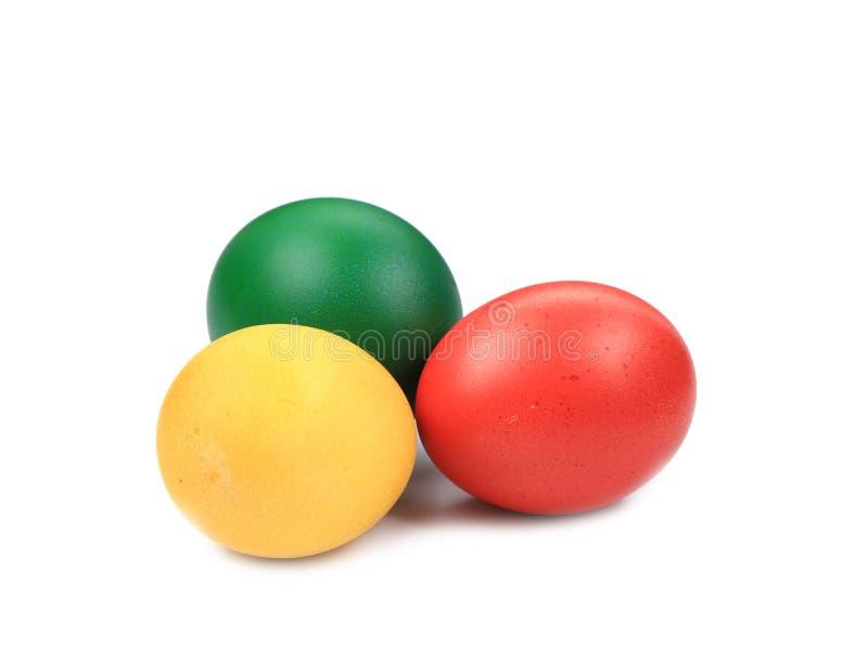 Los huevos de Pascua coloridos se cierran para arriba fotos de archivo