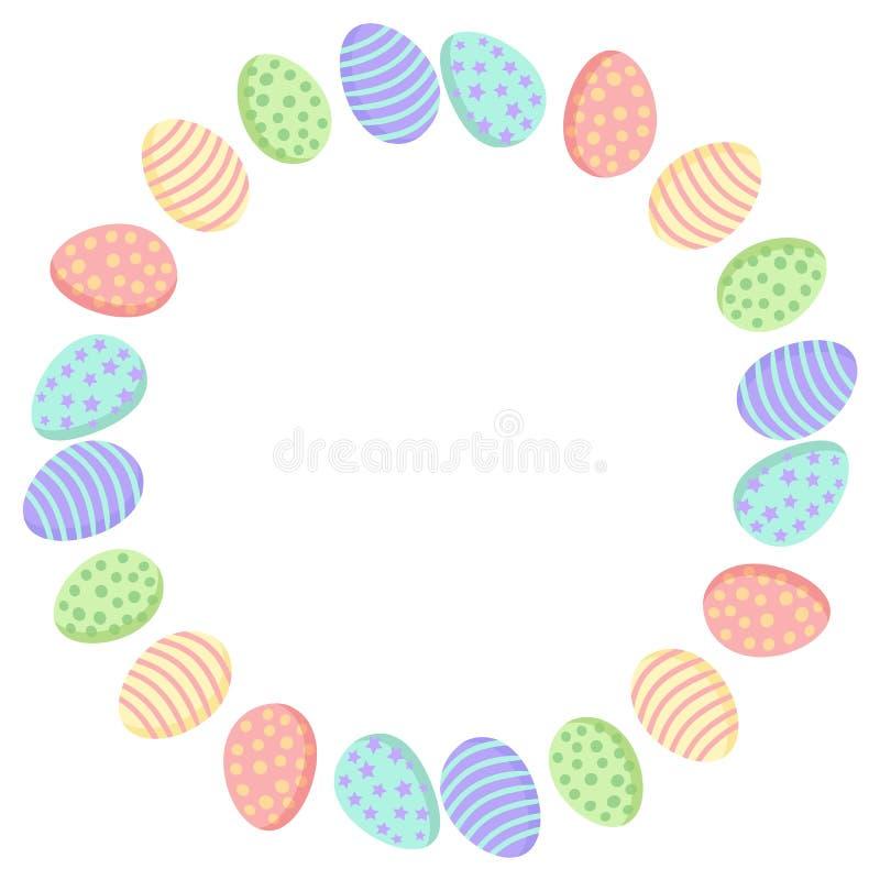 Los huevos de Pascua enrruellan el ornamento Decoraci?n aislada de Ostara libre illustration