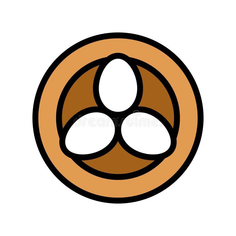 Los huevos en el vector de la jerarquía del pájaro, Pascua llenaron el movimiento editable del icono libre illustration
