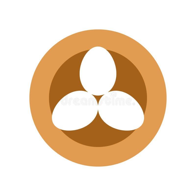 Los huevos en vector de la jerarquía del pájaro, aislaron el icono plano del estilo de Pascua ilustración del vector