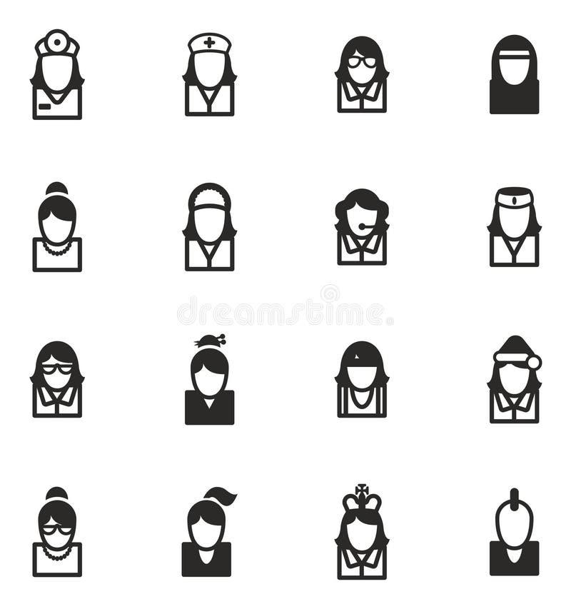 Los iconos de Avatar fijaron 5 ilustración del vector