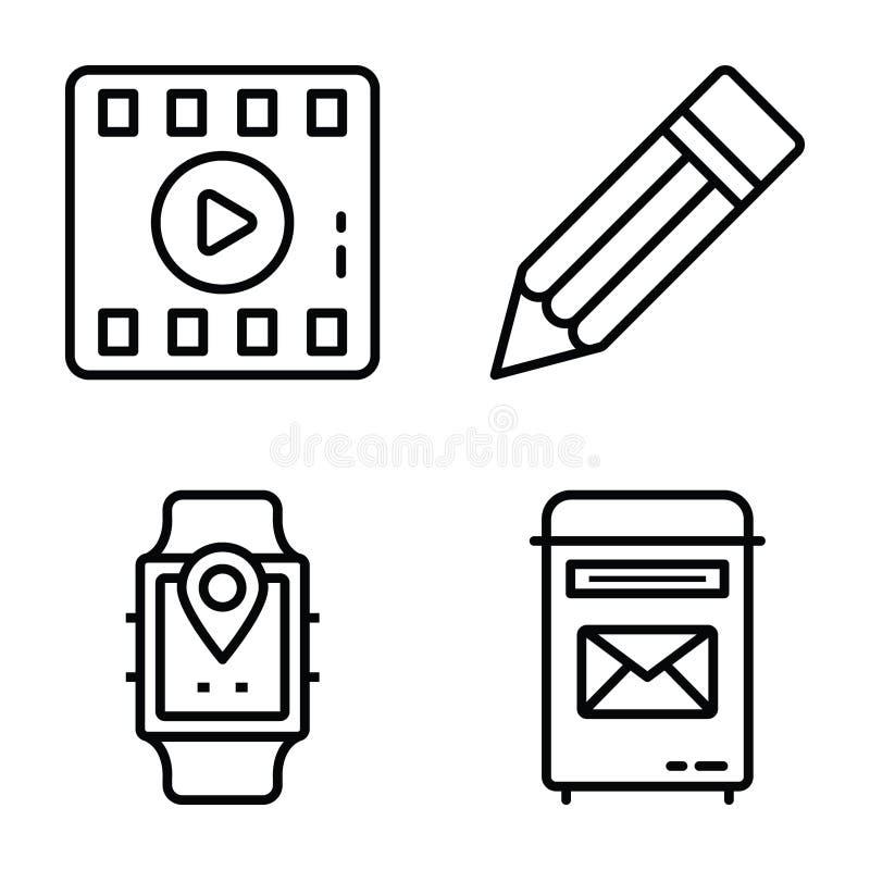 Los iconos de comunicación de datos del vector embalan libre illustration
