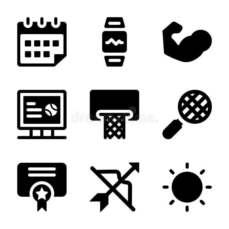 Los iconos de los deportes lían ilustración del vector