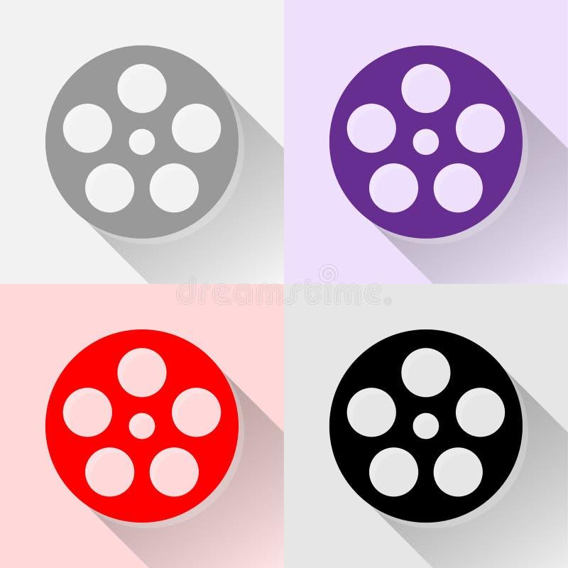 Los iconos de la película fijaron grande para cualquier uso Vector eps10 ilustración del vector