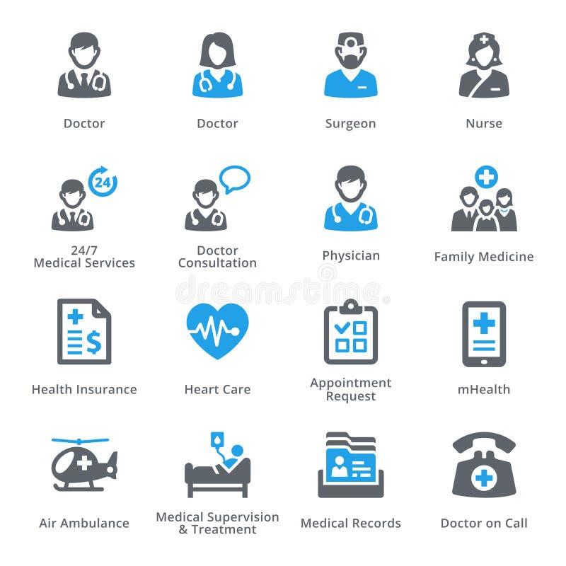 Los iconos de los servicios médicos fijaron 1 - serie de Sympa libre illustration