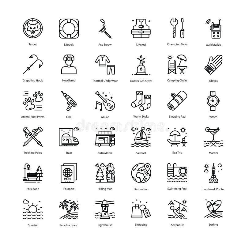 Los iconos del día de fiesta embalan foto de archivo