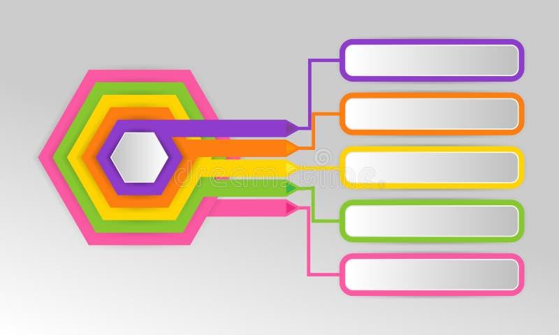 Los iconos del vector y del márketing del diseño de Infographics se pueden utilizar para ilustración del vector