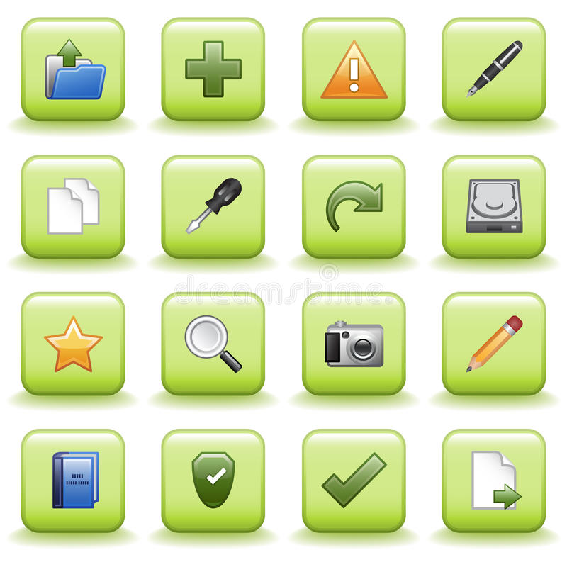 Los iconos estilizados fijaron 03 stock de ilustración
