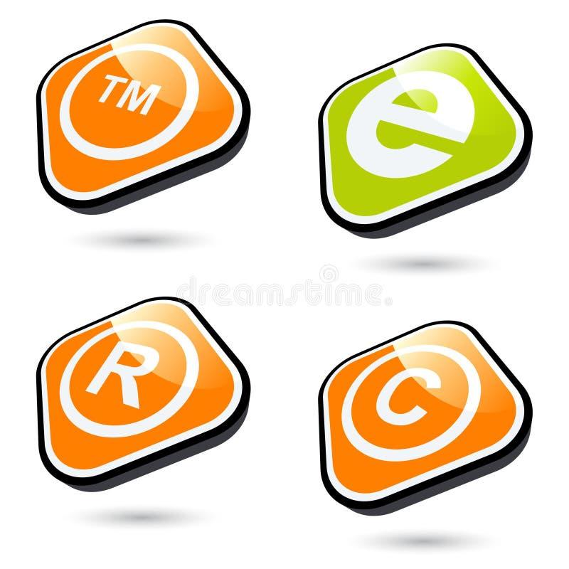 Los iconos fijaron stock de ilustración