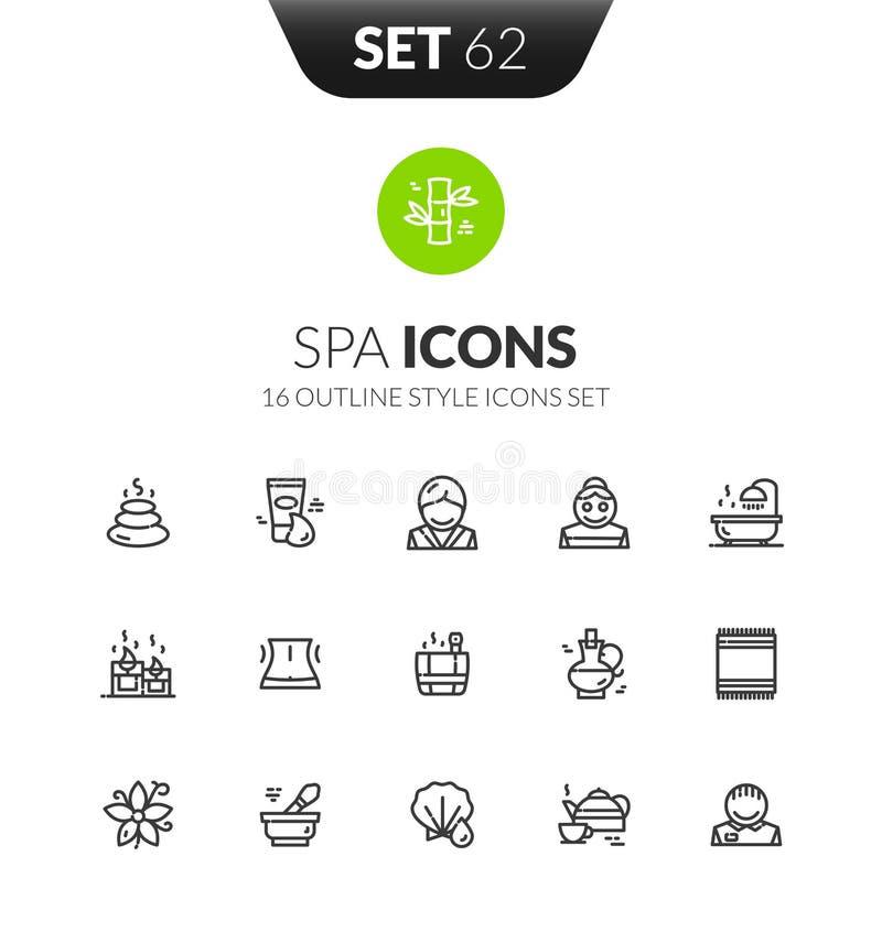 Los iconos negros del esquema fijaron en estilo fino del diseño moderno libre illustration