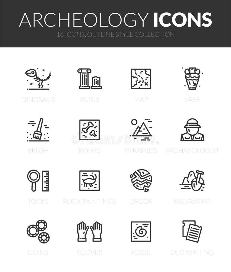 Los iconos negros del esquema fijaron en estilo fino del diseño moderno ilustración del vector