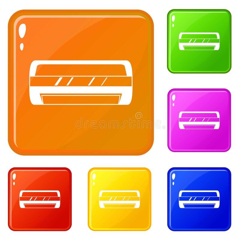 Los iconos partidos de condicionamiento del sistema fijaron color del vector libre illustration
