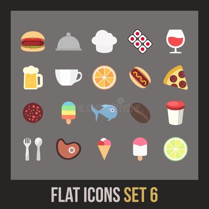 Los iconos planos fijaron 6 libre illustration