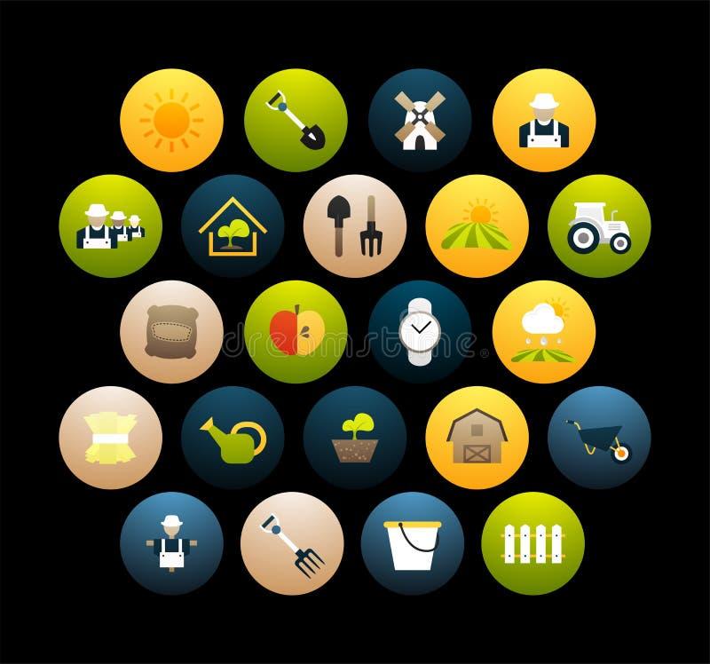 Los iconos planos fijaron 26 ilustración del vector