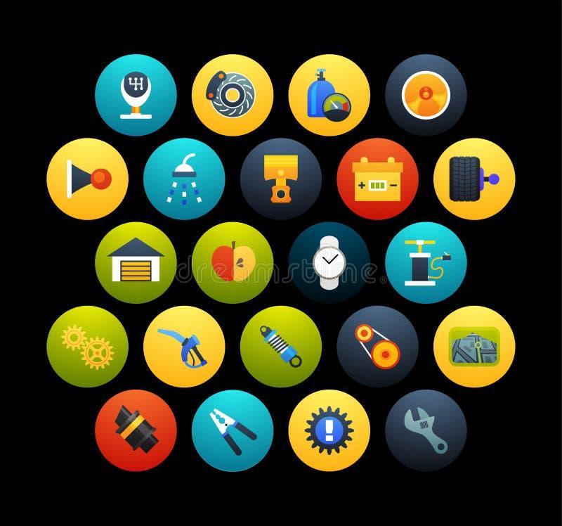 Los iconos planos fijaron 24 libre illustration