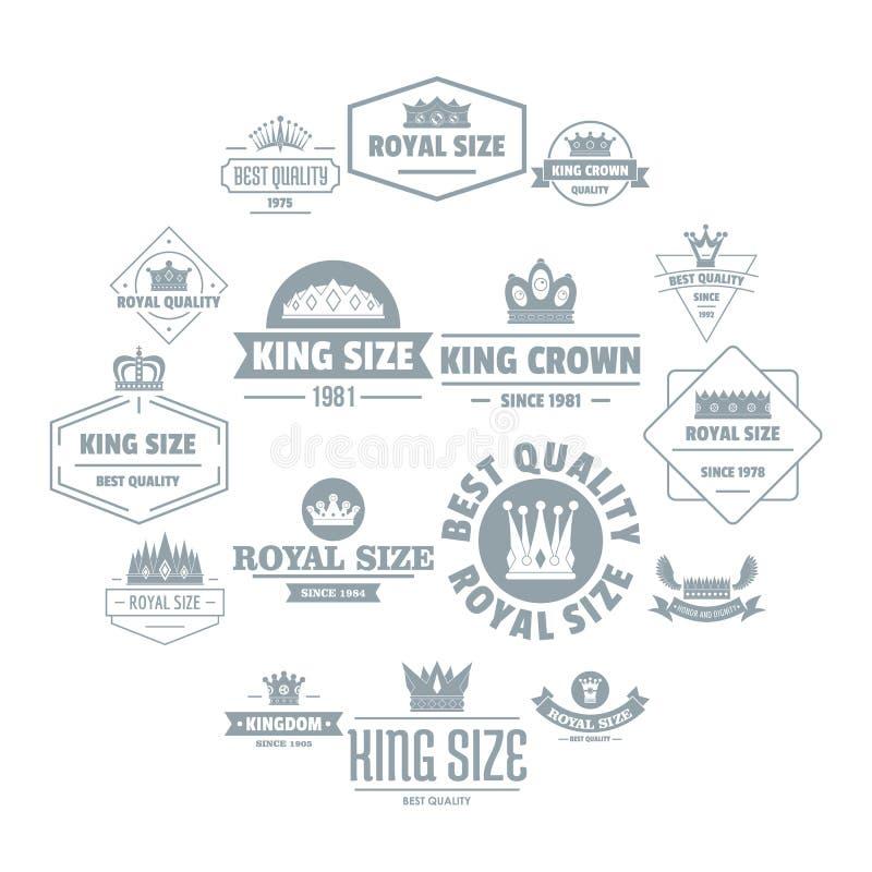 Los iconos reales del logotipo de la corona fijaron, estilo simple ilustración del vector
