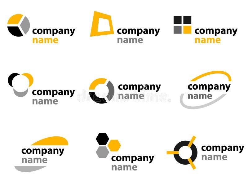 Los iconos y la insignia diseñan elementos ilustración del vector
