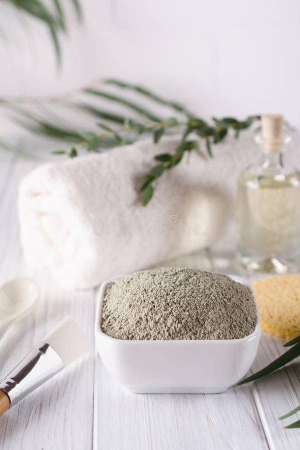 Los ingredientes naturales para el facial y el cuerpo hechos en casa enmascaran o friegan Balneario y Bodycare fotografía de archivo libre de regalías
