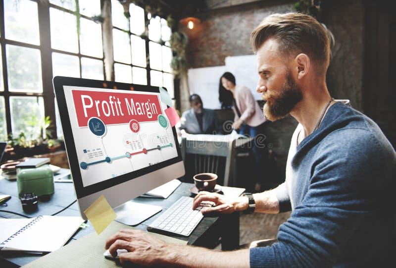 Los ingresos de la renta de las finanzas del margen de beneficio cuestan concepto de las ventas imagen de archivo libre de regalías