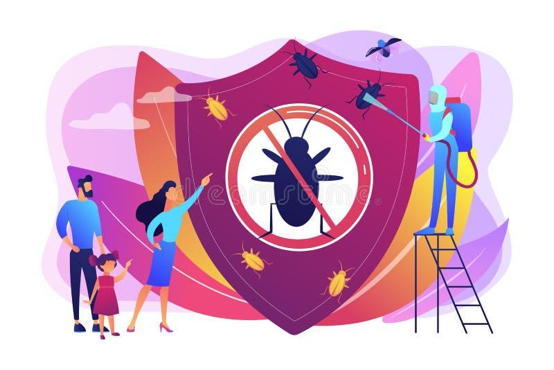 Los insectos caseros del parásito controlan el ejemplo del vector del concepto libre illustration