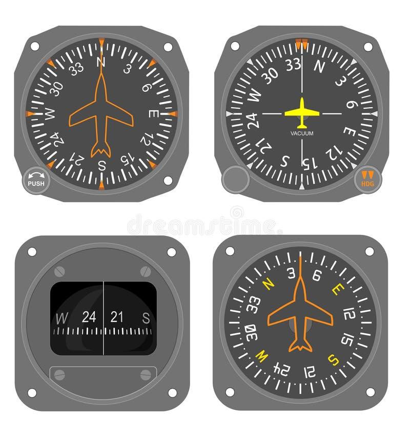 Los instrumentos de aviones fijaron #4 stock de ilustración