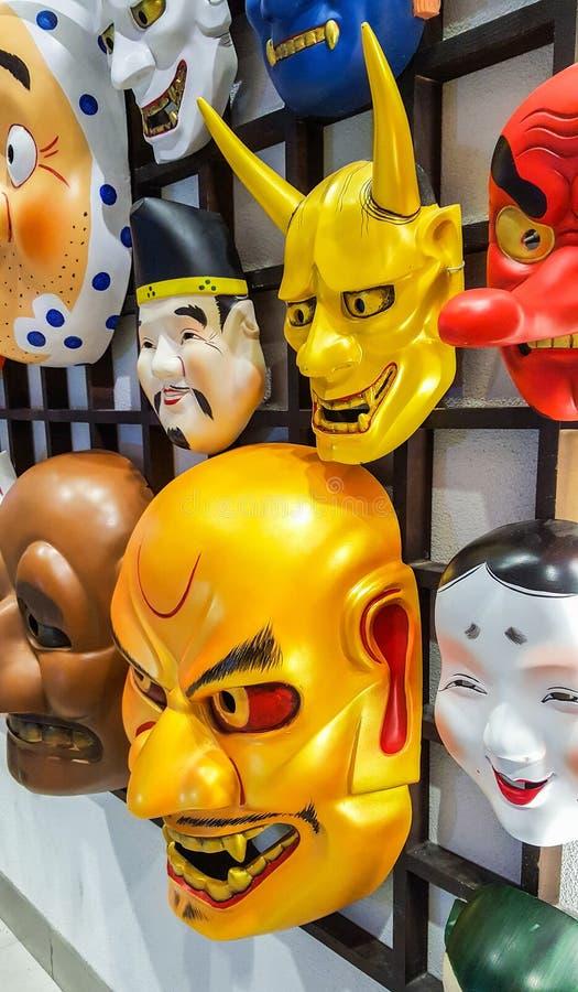 Los japoneses enmascaran para la decoración foto de archivo