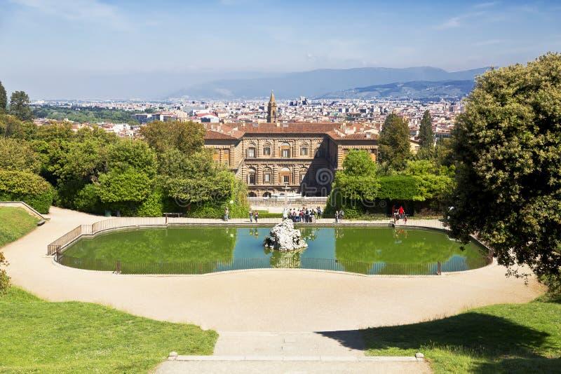 Los jardines de Boboli en Florencia imágenes de archivo libres de regalías