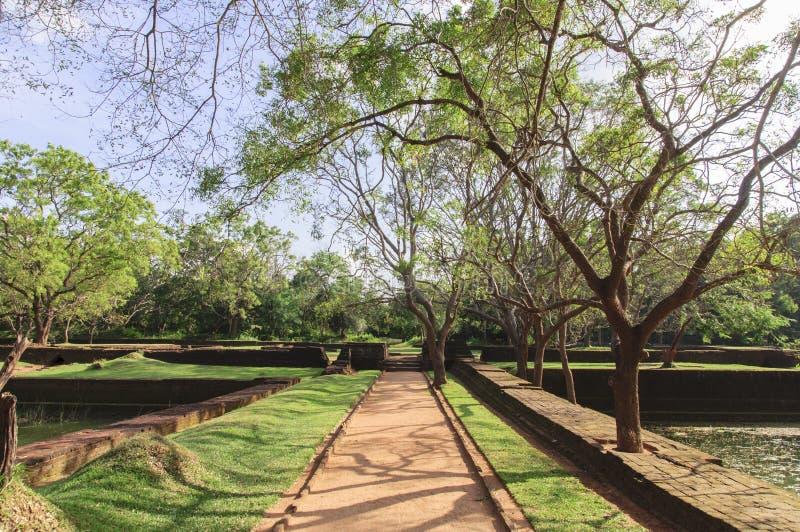 Los jardines de Sigiriya, Sri Lanka imagen de archivo libre de regalías
