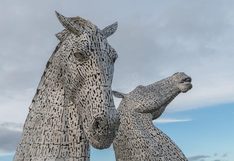 Los Kelpies Falkirk Escocia imágenes de archivo libres de regalías