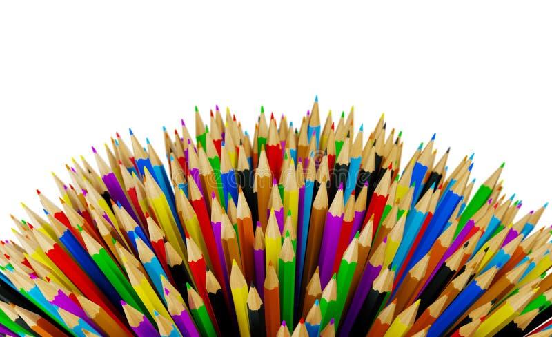 Los lápices multicolores resumen el fondo libre illustration