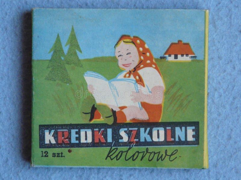 Los l?pices coloreados produjeron en Polonia en los a?os 70 del siglo XX imagen de archivo