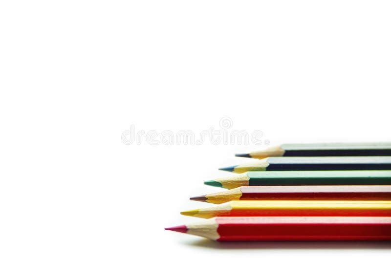 Los l?pices del color se cierran para arriba imagenes de archivo